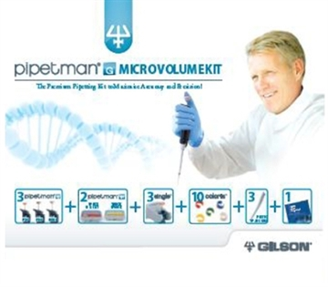 PIPETMAN G Microvolume Kit - 3 pipettes: P2G, P10G & P100G